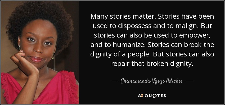 single stories and stereotypes Stereotypes and the danger of a single story february 3, 2017 nkm5061 this week, i realized the dangers of stereotypes after reading chapter 5 and watching chimamanda adichie's the danger of a single story.