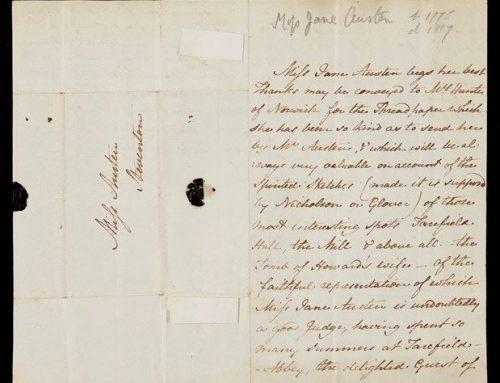 200 שנה למותה של ג'יין אוסטן: שי סנדיק מספר על מכתב סאטירי של אוסטן שנמכר ב-162,000 פאונד